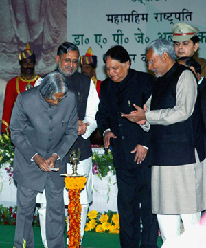 President APJ Abdul Kalam inaugurating the Global Meet