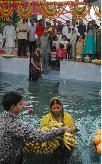 File Photo:  Rabri's Chhath puja ... pix by Manish Sinha